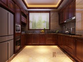 中式 别墅 大户型 高帅富 小资 厨房图片来自高度国际姚吉智在460平米中式联排别墅质朴大气的分享