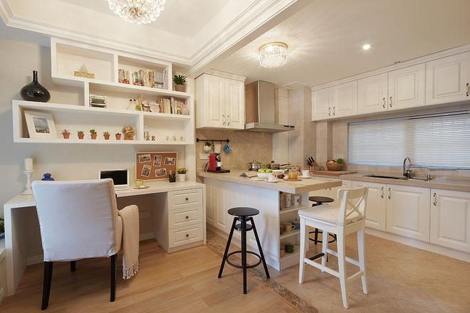 简约 三居 厨房图片来自岚庭家居在电建地产盛世江城94㎡清新美式的分享