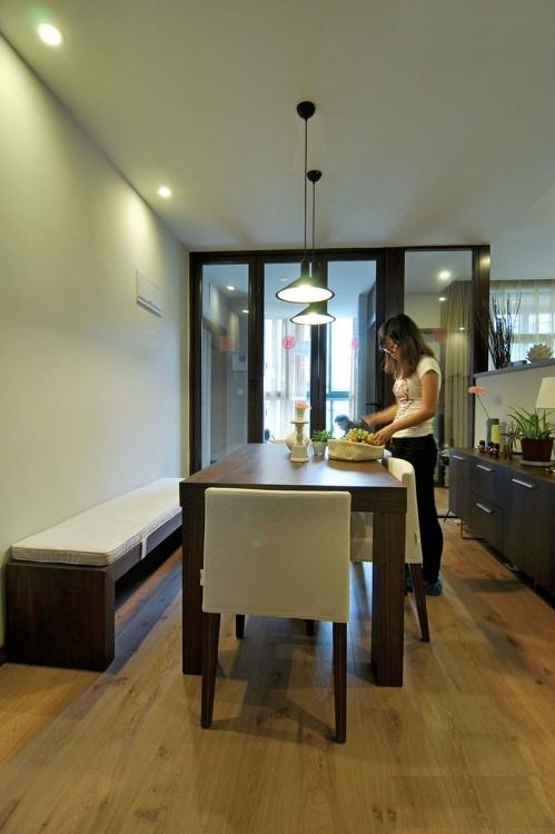 简约 三居 小资 白领 餐厅图片来自岚庭家居在融侨悦府120平现代的分享