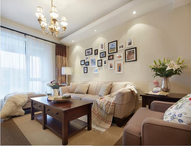 简约 三居 客厅图片来自岚庭家居在电建地产盛世江城94㎡清新美式的分享