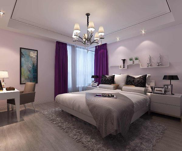 孩子房布置比较偏清新,素雅的床品搭配淡雅的调色漆,犹如兰花般纯洁而富有气质,让人不由得忘却了嘈杂。
