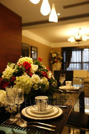 欧式 温馨 高品质 白领 80后 简欧 餐厅图片来自鸿扬家装武汉分公司在世茂锦绣长江之北欧之光的分享