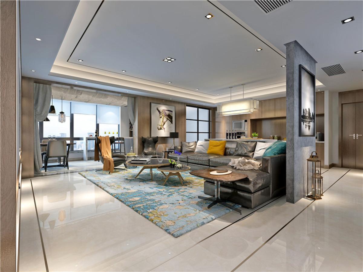 客厅图片来自日升嬛嬛在天鹅堡顶楼复式简约风格装修的分享