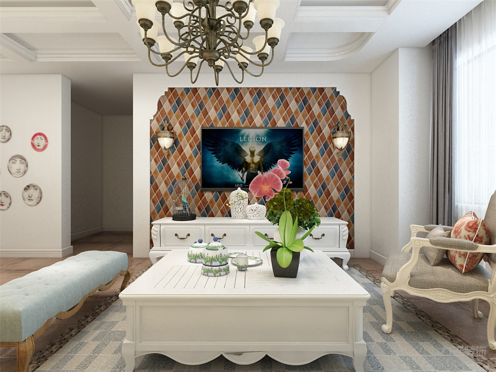 简约 田园 二居 收纳 小资 客厅图片来自阳光力天装饰在力天装饰- 奥莱城-94㎡-田园的分享