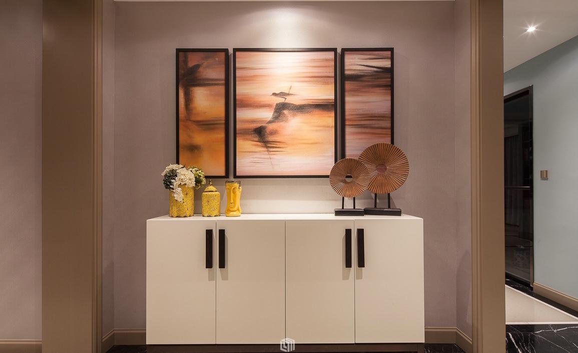 别墅装 装修 设计 玄关 效果图 实景图 玄关图片来自紫禁尚品国际装饰公司在新中式设计的分享