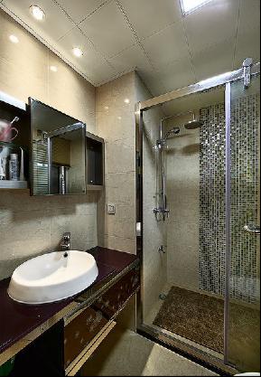 简约 混搭 三居 美式 白领 80后 小资 成都装修 成都设计 卫生间图片来自乐粉_20170523094252350在135㎡芬芳之家,美好如初的分享