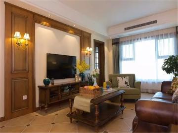 125平米温馨浪漫美式三居室