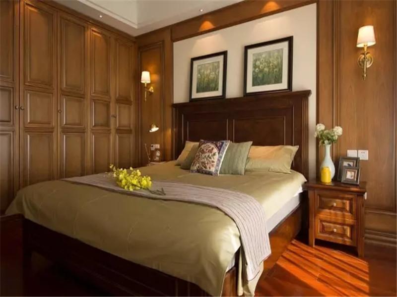 美式 三居 小资 80后 旧房改造 卧室图片来自高度国际姚吉智在125平米温馨浪漫美式三居室的分享