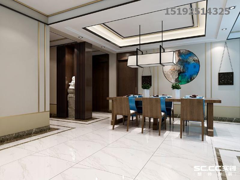 新中式 实创 青特 赫山 餐厅图片来自快乐彩在青特赫山联排A户型210平新中式的分享