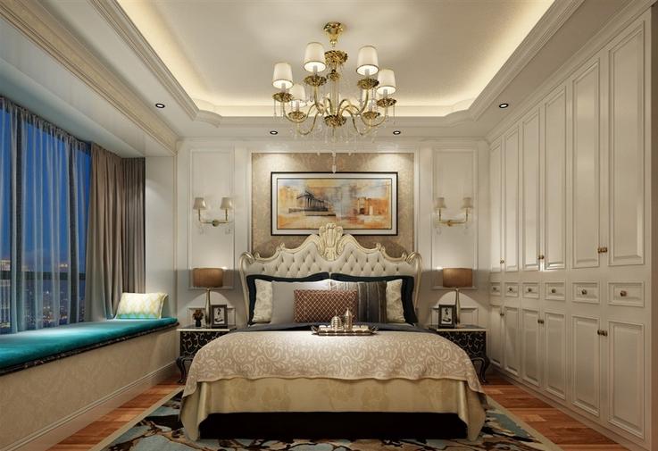 北京 毛坯房 装修 设计 欧式风格 卧室图片来自北京紫禁尚品装饰刘霞在210平米欧式实景案例赏析的分享