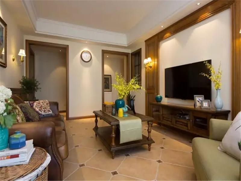 美式 三居 小资 80后 旧房改造 客厅图片来自高度国际姚吉智在125平米温馨浪漫美式三居室的分享