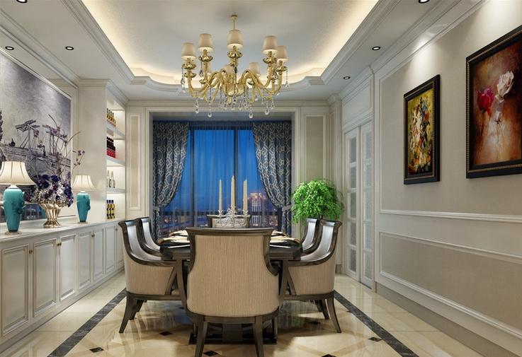 北京 毛坯房 装修 设计 欧式风格 餐厅图片来自北京紫禁尚品装饰刘霞在210平米欧式实景案例赏析的分享