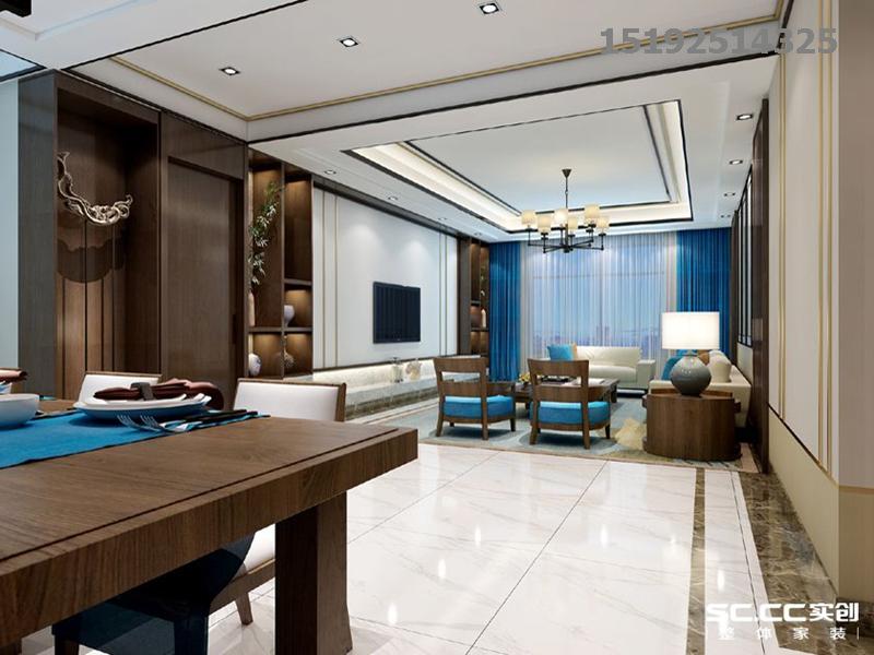 新中式 实创 青特 赫山 客厅图片来自快乐彩在青特赫山联排A户型210平新中式的分享