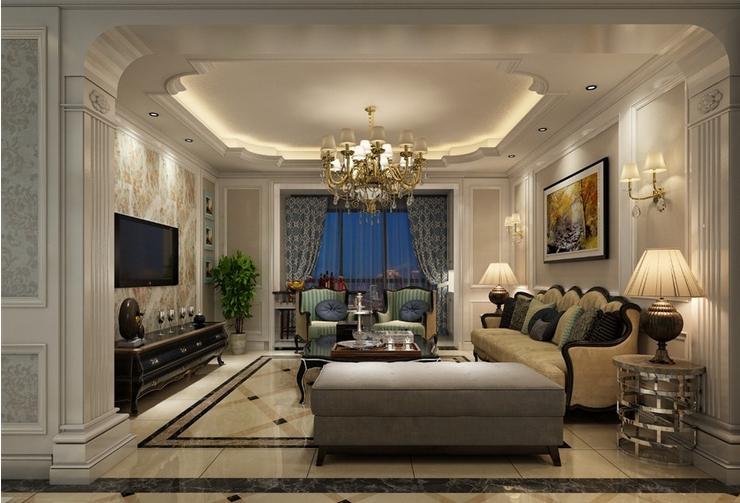 北京 毛坯房 装修 设计 欧式风格 客厅图片来自北京紫禁尚品装饰刘霞在210平米欧式实景案例赏析的分享