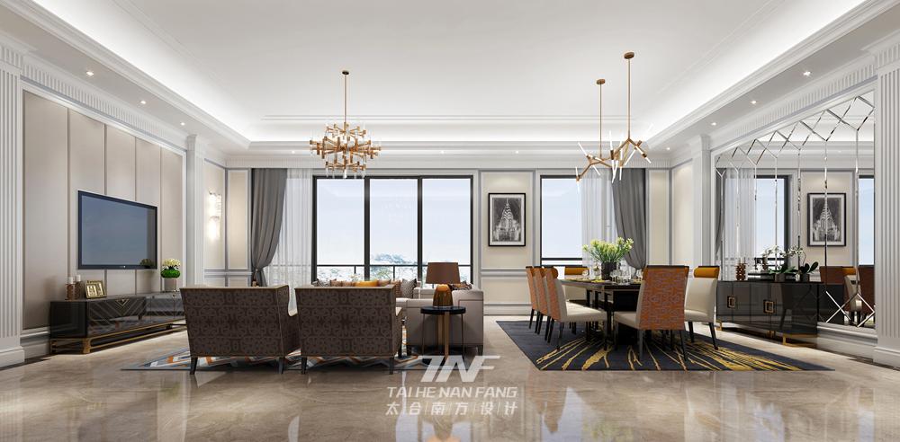 样板房设计 新古典雅奢 太合南方设 客厅图片来自王五平设计在桂平凤凰城A2户型样板房的分享