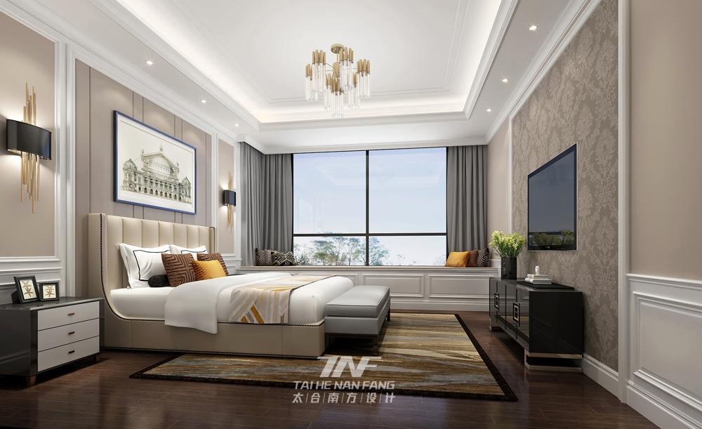 样板房设计 新古典雅奢 太合南方设 卧室图片来自王五平设计在桂平凤凰城A2户型样板房的分享