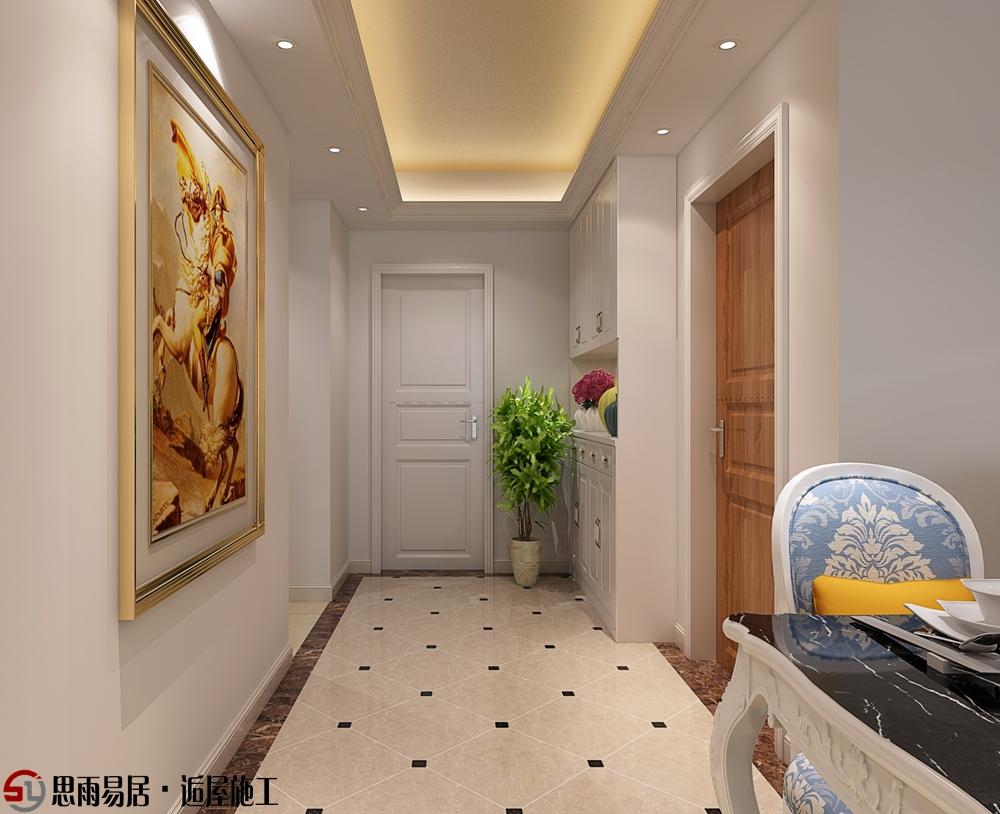 简欧 三居 朗悦华府 102平米 玄关图片来自思雨易居设计在《花田半亩》朗悦华府102平简欧的分享
