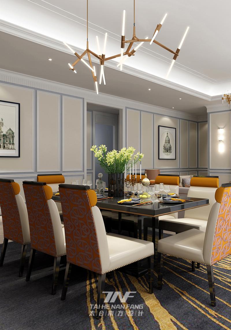 样板房设计 新古典雅奢 太合南方设 餐厅图片来自王五平设计在桂平凤凰城A2户型样板房的分享