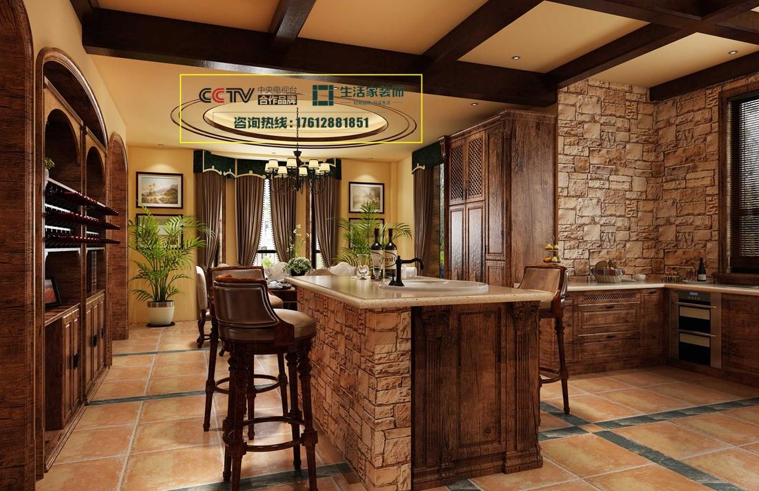 美式 彩叠园 二居 厨房图片来自成都生活家装饰徐洋在彩叠园128㎡美式风格效果图的分享