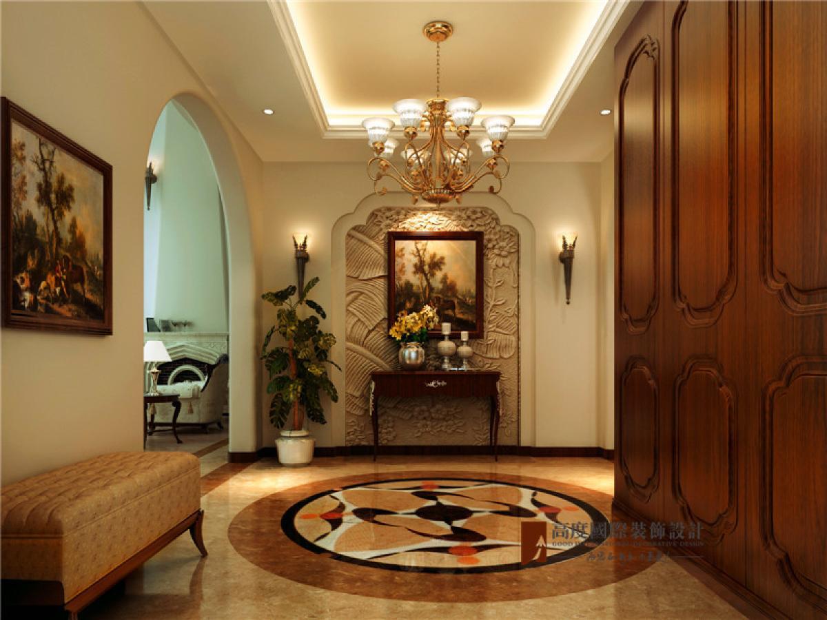 美式 别墅 托斯卡纳 高富帅 有钱任性 玄关图片来自重庆高度国际装饰工程有限公司在誉天下的分享