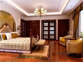 美式 别墅 托斯卡纳 高富帅 有钱任性 卧室图片来自重庆高度国际装饰工程有限公司在誉天下的分享