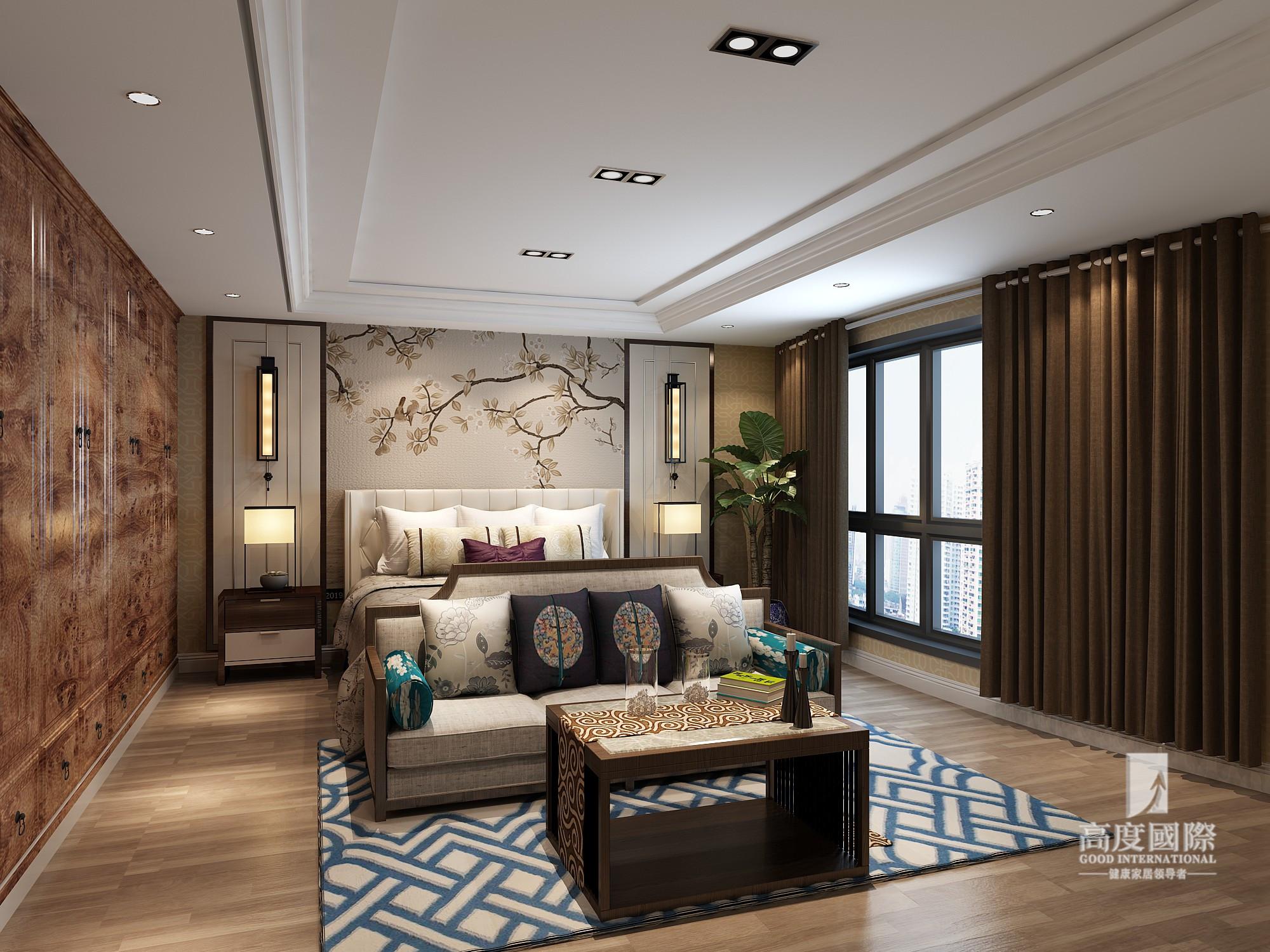 复式 高度国际装 卧室图片来自杭州别墅装修设计在750方复式新中式风格作品的分享