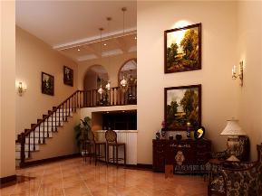 美式 别墅 托斯卡纳 高富帅 有钱任性 楼梯图片来自重庆高度国际装饰工程有限公司在誉天下的分享