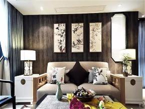 中式 高富帅 有钱任性 三居 80后 小资 客厅图片来自重庆高度国际装饰工程有限公司在龙山华府的分享
