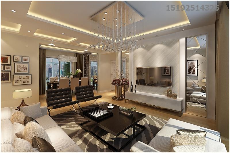 简约 都市果岭 实创 三居 客厅图片来自快乐彩在都市果岭137平三居室现代简约的分享