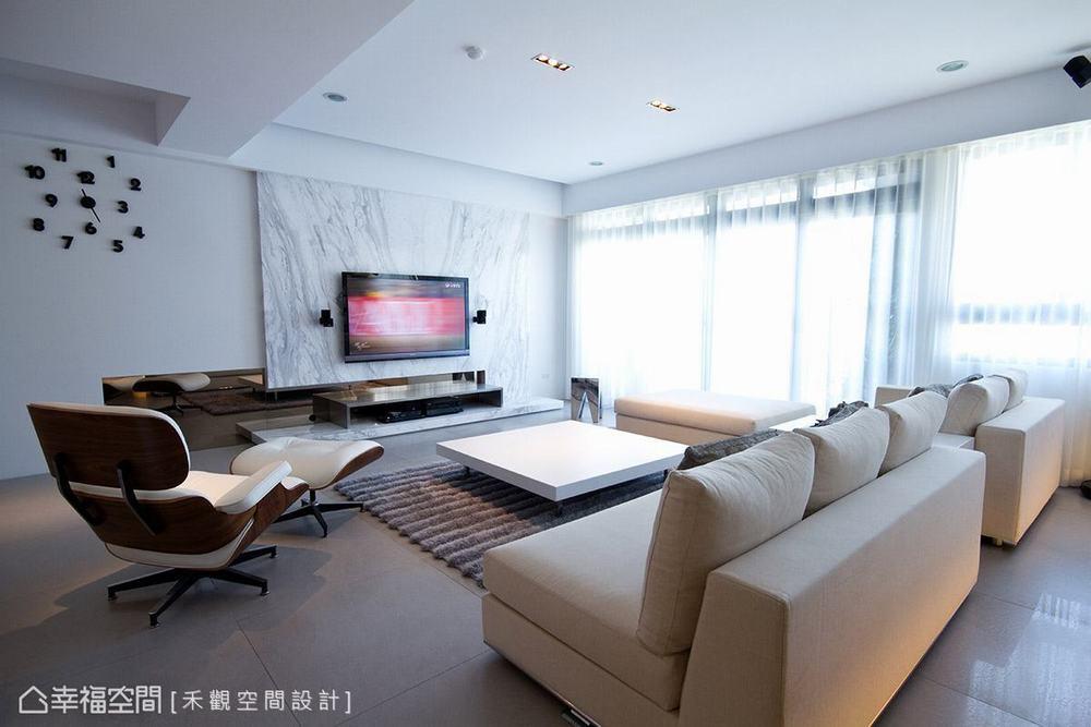 二居 北欧 简约 客厅图片来自幸福空间在纯净无瑕 172平零压感自然美宅的分享
