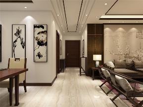 中式 新中式 二居 收纳 小资 玄关图片来自阳光力天装饰在力天装饰-奥莱城-109㎡-中式的分享