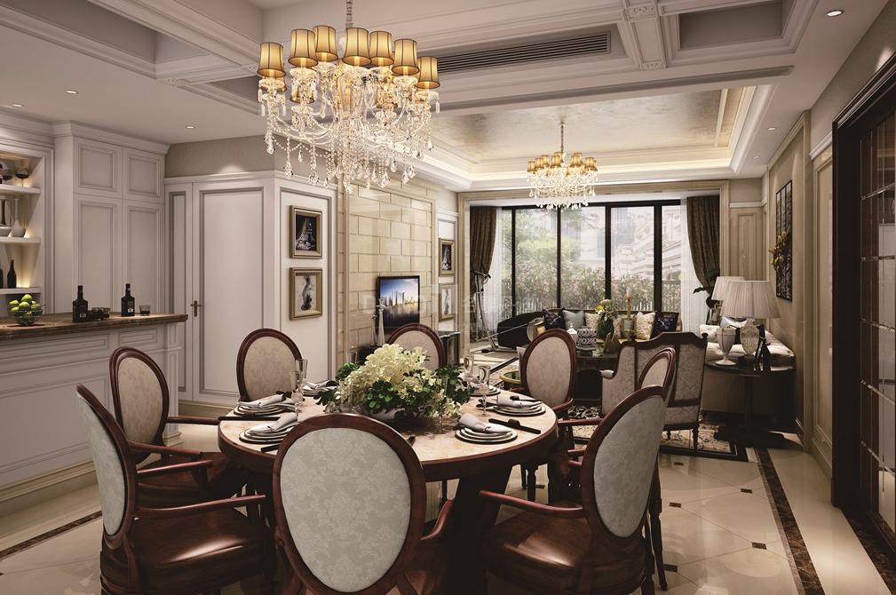 欧式 简约 别墅 餐厅图片来自名雕丹迪在仁山智水,简欧风格装修的分享
