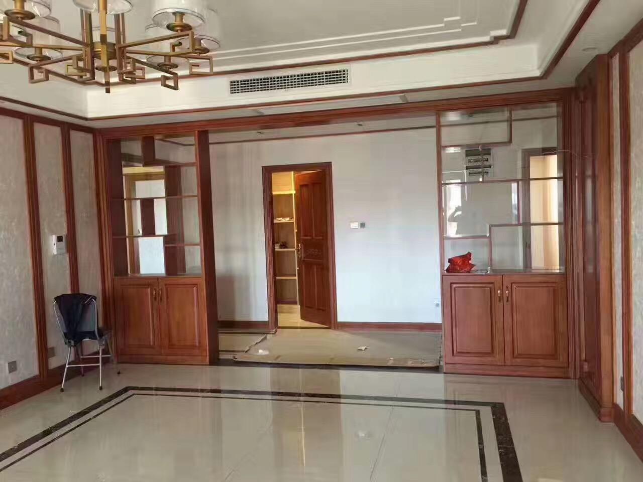中式设计 中式装修 日升装饰 家具定制 客厅图片来自装修设计芳芳在第四军医大木作的分享