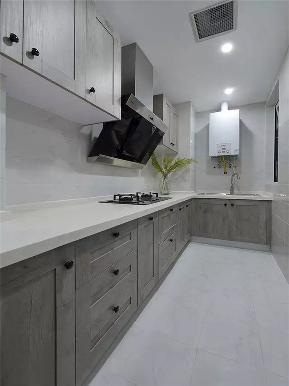 美式 简约美式 二居 小资 80后 收纳 厨房图片来自高度国际姚吉智在100平米简约美式清新大气两居室的分享