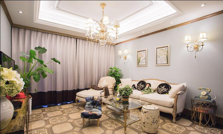 简约 欧式 混搭 别墅 白领 80后 小资 客厅图片来自乐粉_20170523094252350在普罗旺斯的薰衣草的分享