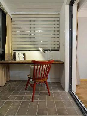 美式 简约美式 二居 小资 80后 收纳 书房图片来自高度国际姚吉智在100平米简约美式清新大气两居室的分享