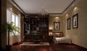 港式 白富美 高富帅 别墅 高度国际 书房图片来自重庆高度国际装饰工程有限公司在西山壹号院-港式风格的分享