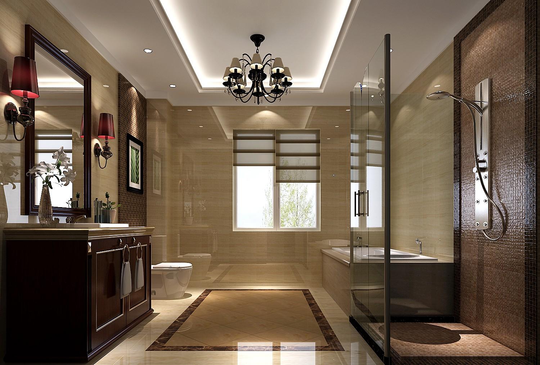 港式 白富美 高富帅 别墅 高度国际 卫生间图片来自重庆高度国际装饰工程有限公司在西山壹号院-港式风格的分享
