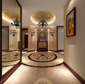 港式 白富美 高富帅 别墅 高度国际 玄关图片来自重庆高度国际装饰工程有限公司在西山壹号院-港式风格的分享
