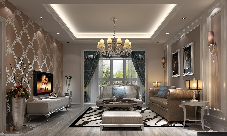 混搭 美式 西欧 古典 精致 独特 个性化 柔美 客厅图片来自重庆高度国际装饰工程有限公司在长楹天街-混搭风的分享