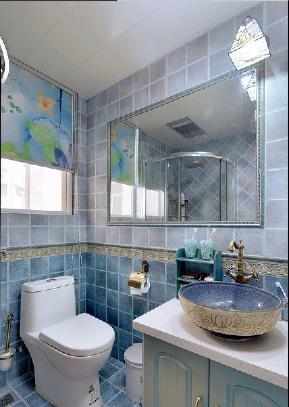 简约 四居室 地中海 白领 成都装修 宅天下 成都设计 卫生间图片来自乐粉_20170523094252350在地中海四居:文化名园的分享