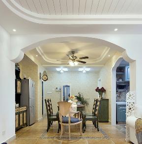 简约 四居室 地中海 白领 成都装修 宅天下 成都设计 餐厅图片来自乐粉_20170523094252350在地中海四居:文化名园的分享
