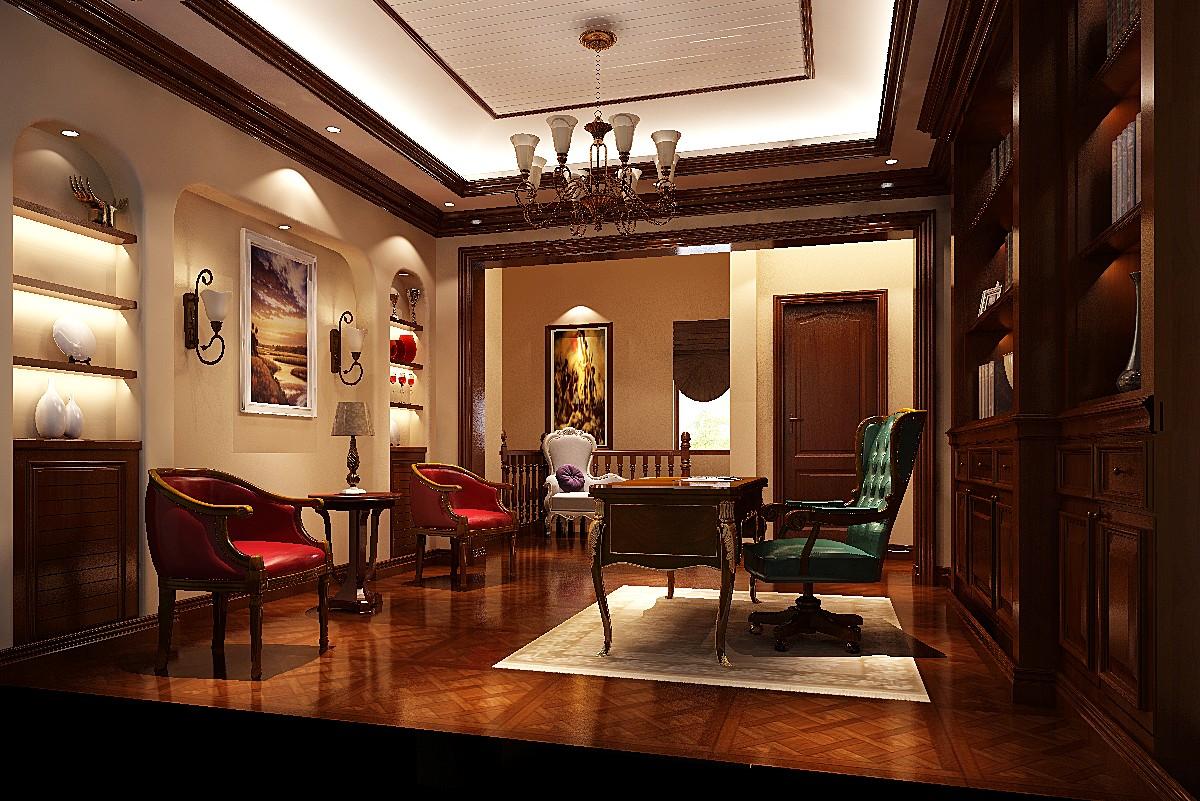 意式 温馨 情调 浪漫 古典 优雅 舒适 书房图片来自重庆高度国际装饰工程有限公司在鲁能七号院-意式风格的分享