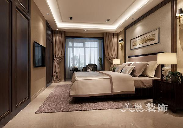 普罗旺世龙之梦260平方别墅新中式会所:卧室