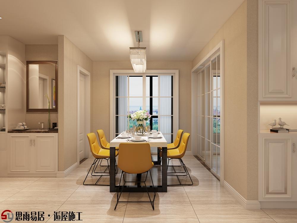简约 三居 朗悦华府 125平米 餐厅图片来自思雨易居设计在《清馨恋家》朗悦华府现代简约的分享