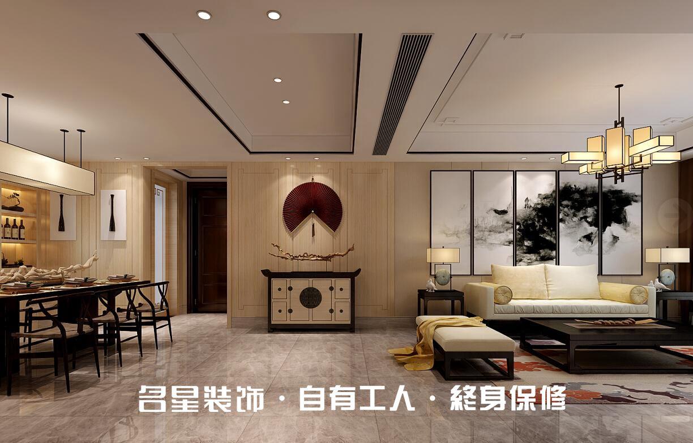 二居 中式 客厅图片来自名星装饰在福星惠誉东湖城样板房的分享