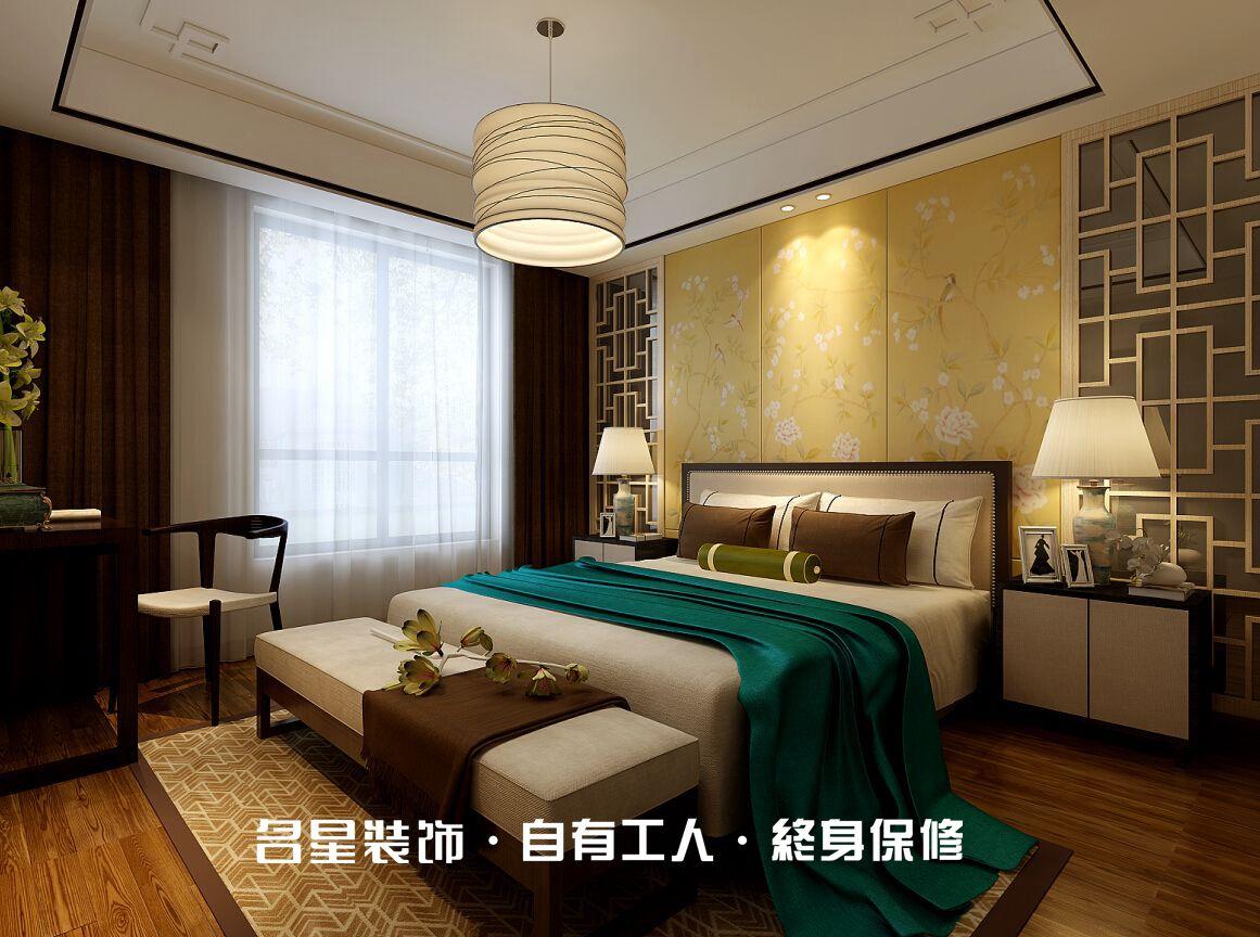 二居 中式 卧室图片来自名星装饰在福星惠誉东湖城样板房的分享