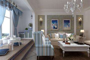 90㎡地中海风格两居室