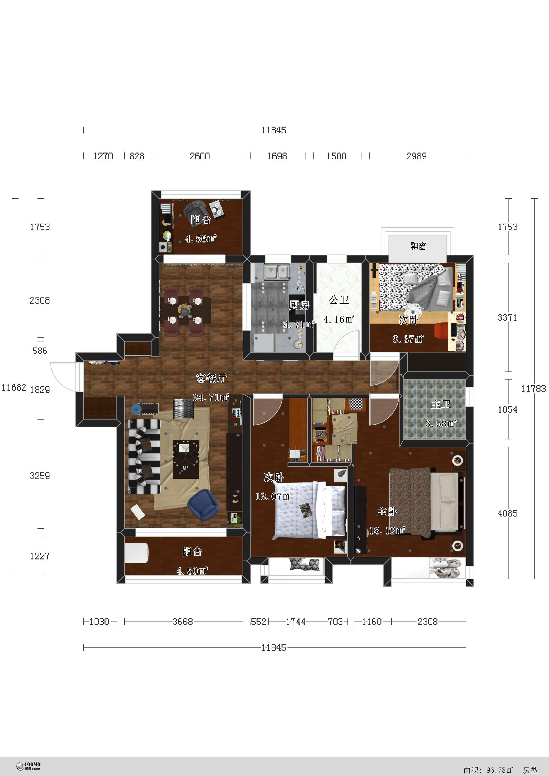 混搭 三居 80后 户型图图片来自南昌楷模家居生活馆在万科地铁138平现代简约的分享