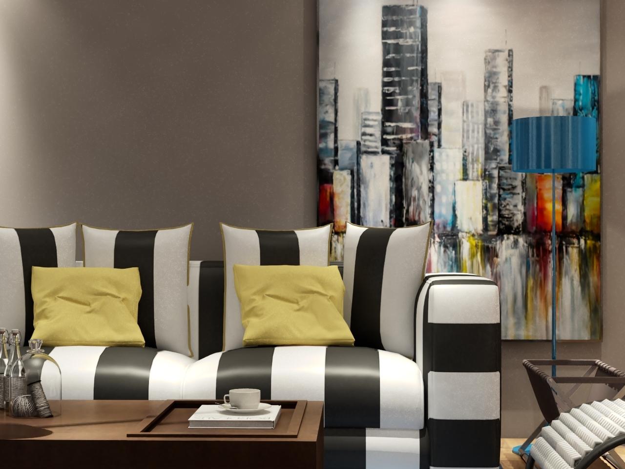 混搭 三居 80后 客厅图片来自南昌楷模家居生活馆在万科地铁138平现代简约的分享